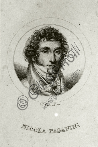 """Portrait of Niccolò Paganini"", engraving."