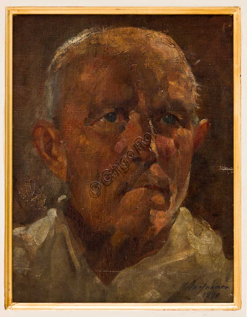 "Assicoop - Unipol Collection: Ubaldo Magnavacca (1885-1957); ""Portrait of a Man""; Oil on plywood, 34 x 26 cm."