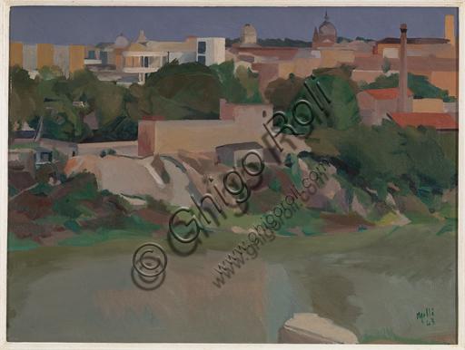 """Roberto Melli, (1885-1958): """"Paesaggio romano""""; 1943."""
