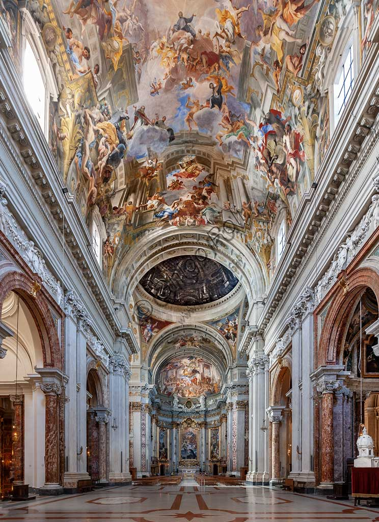 Rome, S. Ignazio Church, interior: view of the nave.