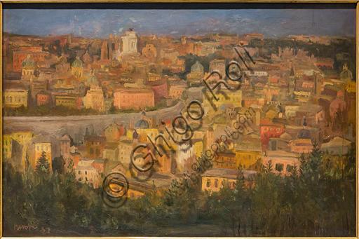 """Museo Novecento: """"Roma dal Gianicolo"""", di Mario Mafai, 1937. Olio su tela."""