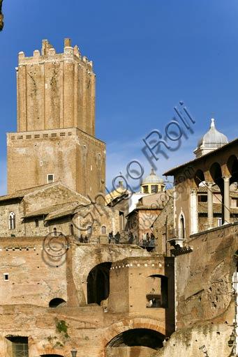 Rome, Trajan's Market (Mercatus Traiani): view of the Tower of the Milizia.