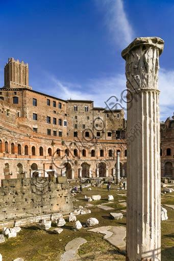Rome, Trajan's Market (Mercatus Traiani): view of the emiciclo.