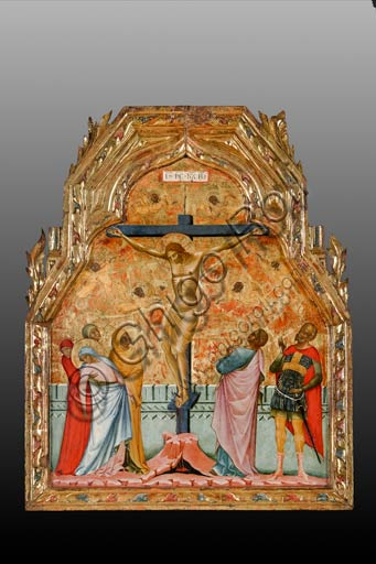 Rome, National Museum of Palazzo Venezia (from the church of St. George in Piran, Slovenia): Paolo Veneziano,  Crucifixion (1355).