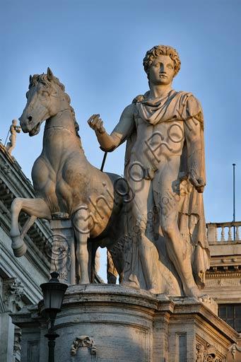 Roma, piazza del Campidoglio: statua colossale di uno dei Dioscuri.