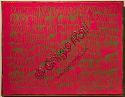 """Museo Novecento: """"Rossoverde"""", di Carla Accardi, 1966. Caseina su tela."""
