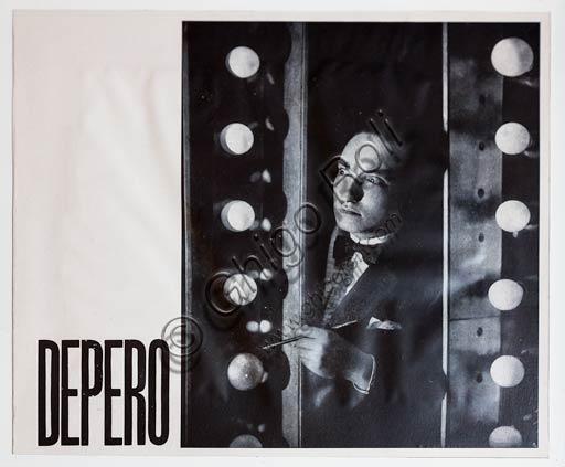 Rovereto, Casa Depero: Fortunato Depero's photographic portrait.