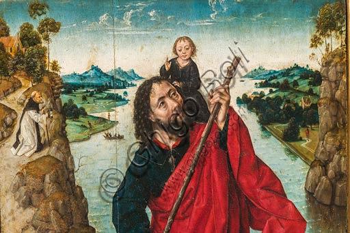"""Modena, Galleria Estense: """"San Cristoforo"""", di Aelbrecht Bouts. Particolare."""
