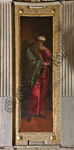 """Genova, Duomo (Cattedrale di S. Lorenzo), interno, Cappella Lercari o del Santissimo Sacramento (abside settentrionale): """"San Gioacchino"""", di Luca Cambiaso, 1575."""