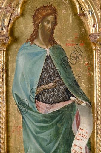 San Severino Marche, Pinacoteca Comunale: Paolo Veneziano, Polittico (1358) con Santi. Particolare con San Giovanni Battista.