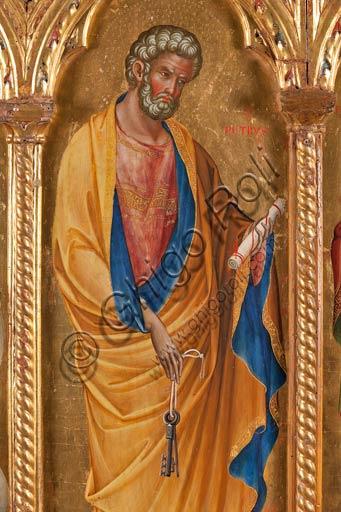 San Severino Marche, Pinacoteca Comunale: Paolo Veneziano, Polittico (1358) con Santi. Particolare con San Pietro Apostolo.