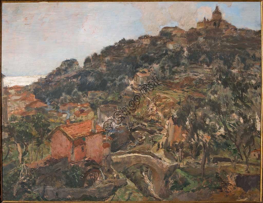 """Collezione Assicoop - Unipol: Giuseppe Graziosi (1879-1942), """"Sanremo"""". Olio su compensato, cm.100 x 140."""