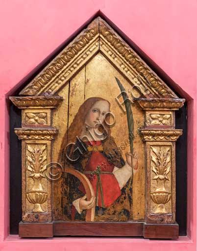 """Bergamo, Bernareggi Museum: """" St. Catherine of Alexandria"""", by Bernardo or Antonio Marinoni (about 1493 - 1533/45)."""
