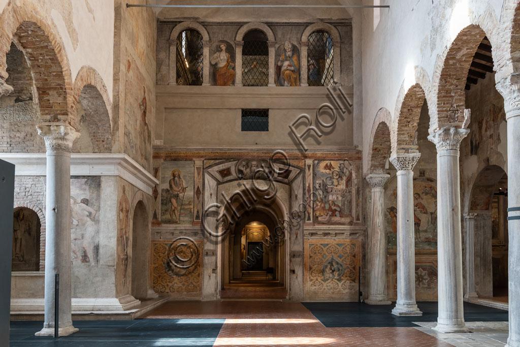 """Brescia, """"Santa Giulia, Museo della Città"""", (sito Unesco dal 2011), interno della Chiesa di San Salvatore: la controfacciata."""