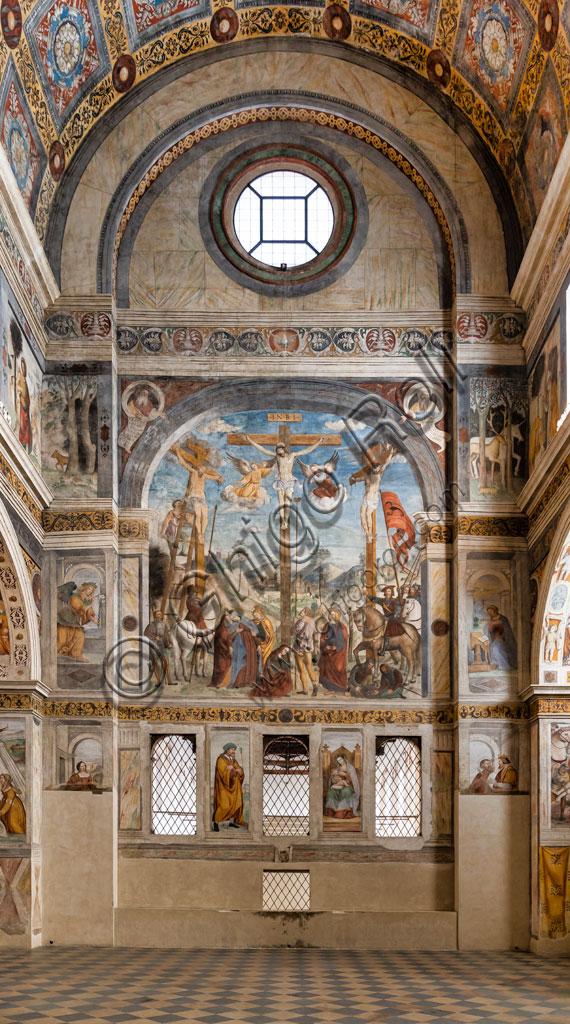"""Brescia, """"Santa Giulia, Museo della Città"""", (sito Unesco dal 2011): il Coro delle Monache. Gli affreschi  sono di Floriano Ferramola e Paolo da Caylina il Giovane e risalgono agli anni Venti del Cinquecento. Al Ferramola è attribuita la Crocifissione."""