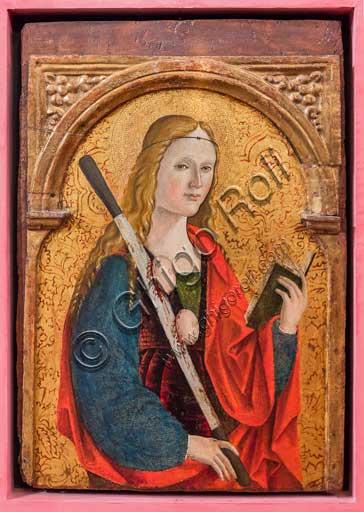 "Bergamo, Bernareggi Museum: "" St. Agatha"", by Bernardo or Antonio Marinoni (about 1493 - 1533/45)."