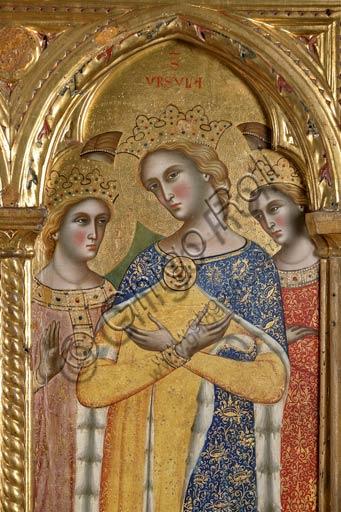 San Severino Marche, Pinacoteca Comunale: Paolo Veneziano, Polyptych (1358) with Saints. Detail of St. Ursula.