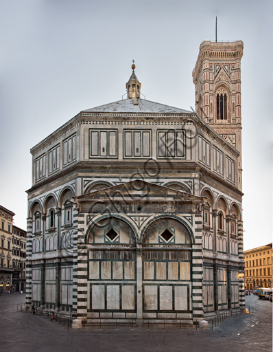 """Florence, the Baptistery of St. John, exterior, the Western side:  the """"Scarsella""""."""