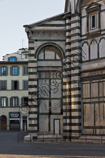 """Florence, the Baptistery of St. John, exterior: the Southern side of the """"Scarsella""""."""
