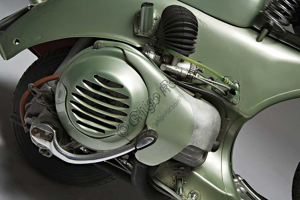 Ancient Motorbike Vespa Sei Giorni. Scooter.