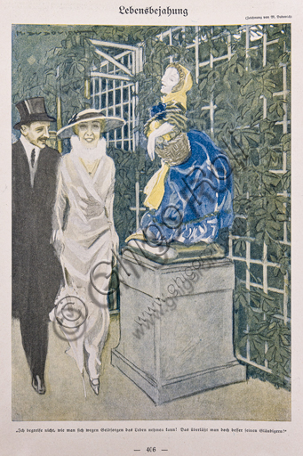 """""""Simplicissimus, n. 25"""", Illustration by Marcello Dudovich for  the satirical - humorous magazine, 1913, letterpress print."""