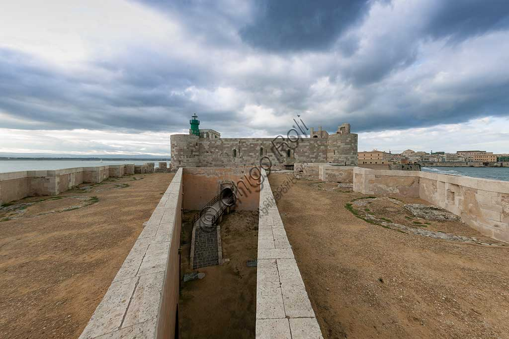 Syracuse: bastions of the Maniace Castle on the island of Ortigia.
