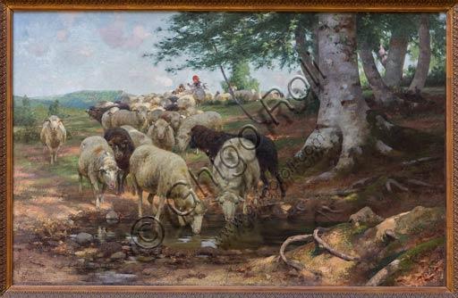 """Piacenza, Galleria Ricci Oddi:  """"La sorgente dei Lamoni"""" (1890 - 95), olio su tela di Stefano Bruzzi (1835 - 1911)."""