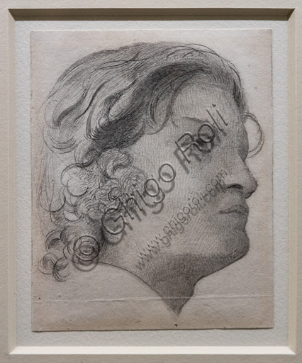 """""""Spencer Deverell"""", study for """"The Twelfth Night"""",  (1852-3)  by Walter Howell Deverell (1827 - 54); graphite on paper."""