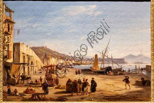 "Anton Sminck van Pitloo: ""Chiaia Beach from Mergellina"", oil painting, 1829."