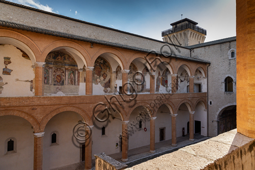 Spoleto, Rocca Albornoz (Stronghold): North Courtyard of the Arms.