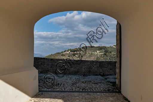 Spoleto, Rocca Albornoz (Stronghold): view from the castle northwards.