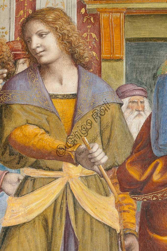 """Saronno, Santuario della Beata Vergine dei Miracoli, Antipresbiterio: """"Sposalizio della Vergine"""", affresco di Bernardino Luini, 1525 - 1532. Particolare con giovane uomo."""