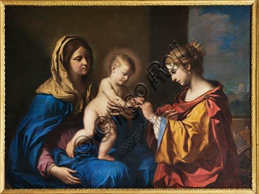 """Modena, Galleria Estense: """"Sposalizio Mistico di Santa Caterina"""", del Guercino (Giovanni Francesco Barbieri, 1591-1666)."""