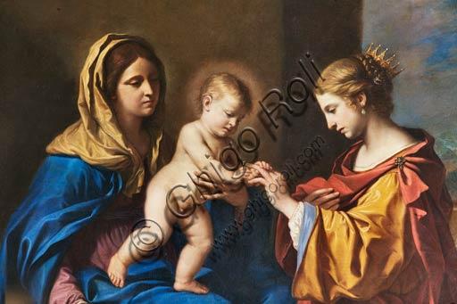 """Modena, Galleria Estense: """"Sposalizio Mistico di Santa Caterina"""", del Guercino (Giovanni Francesco Barbieri, 1591-1666). Particolare."""