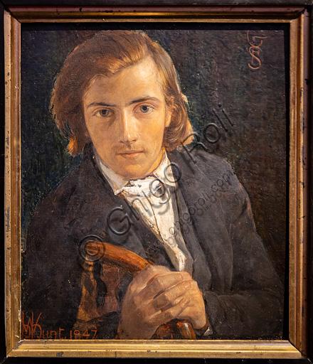 """F.G. Stephens"", (1847) by William Holman Hunt (1827 - 1910);  oil painting on wood."