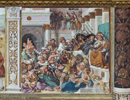 """Cremona, Duomo (Cattedrale di S. Maria Assunta), interno, presbiterio, settimo arcone: """"Strage degli Innocenti"""", affresco di Altobello Melone, 1517."""