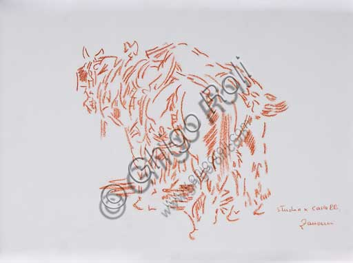 "Assicoop - Unipol Collection:Remo Zanerini (1923 -), ""Study for horses""."