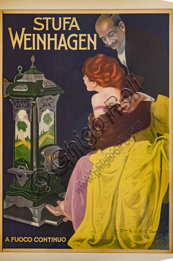"""""""Stove in Weinhagen"""", poster by Marcello Dudovich, 1906, lithograph on paper."""