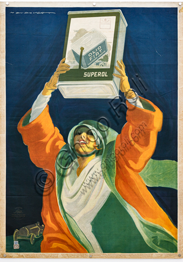 """""""Superol"""", Illustration for the advertising poster by Marcello Dudovich, 1925, chromolithography on paper."""