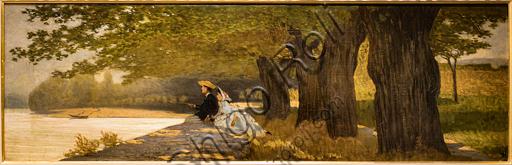 "Telemaco Signorini: ""Honeymoon"",  1862-3, oil painting on canvas."
