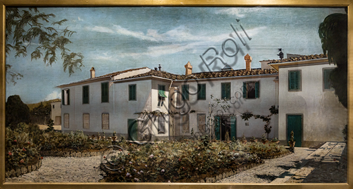"Telemaco Signorini: ""Tuscany Villa"", 1872-4, oil painting on canvas."