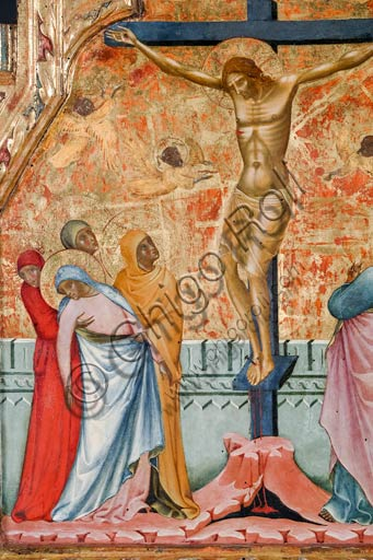 Rome, National Museum of Palazzo Venezia (from the church of St. George in Piran, Slovenia): Paolo Veneziano,  Crucifixion (1355). Detail.