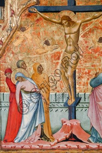 Roma, Museo Nazionale di Palazzo Venezia (già nella chiesa di San Giorgio a Pirano, Istria): Paolo Veneziano, Crocifissione (1355).  Particolare. Tempera e olio su tavola cm 56 x 69.