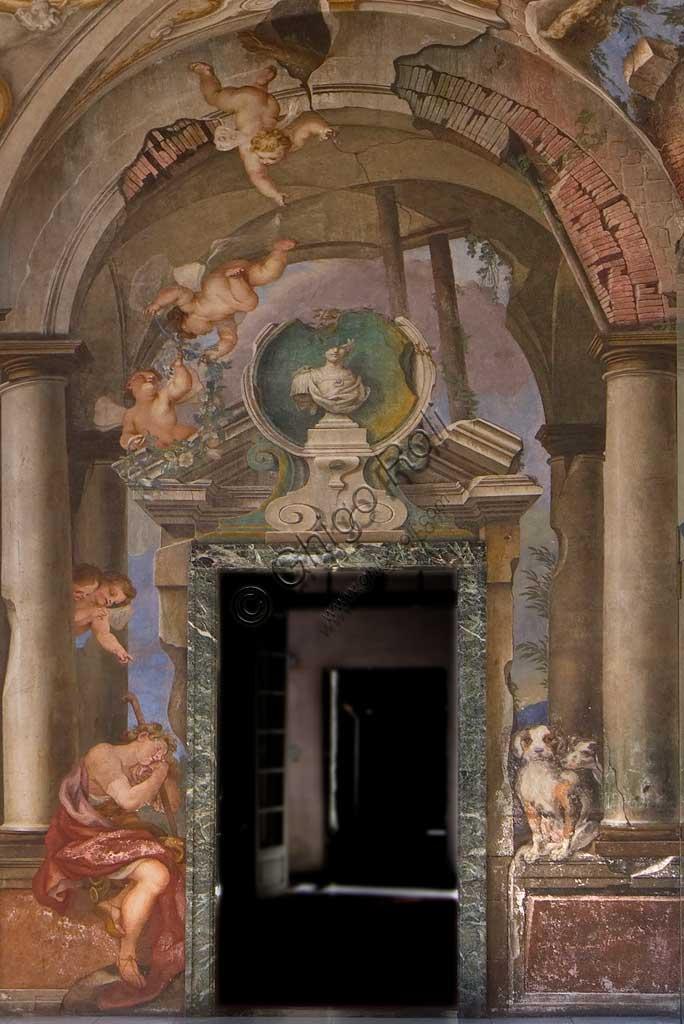"""Palazzo Rosso: La Loggia. Sulla volta """"il Tempio di Diana"""", affresco di Paolo Gerolamo Piola."""