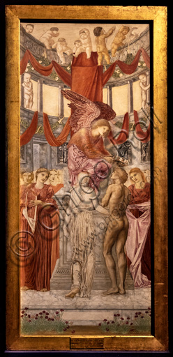 """The temple of Love"", 1872 by Edward Coley Burne - Jones  (1833 - 1898); oil painting on canvas."