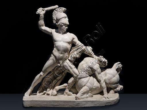 """""""Teseo in lotta con il centauro Eirition"""", 1804-5, di Antonio Canova (1757 - 1822), gesso."""
