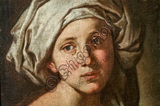 "Modena, Civic Museum of Art: "" A Girl's Head with Turban"", by Francesco Stringa (1578 - 1615). Detail."