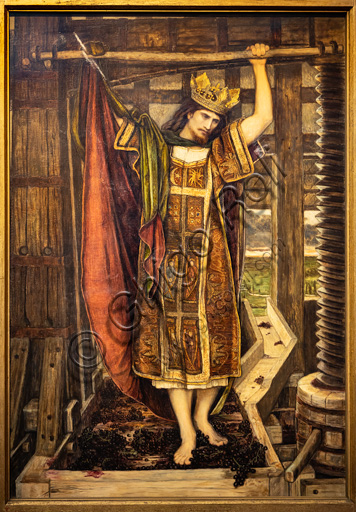 """""""The Wine Press"""", (1864) by John Roddam Spencer Stanhope (1829 - 1908); oil painting on canvas."""