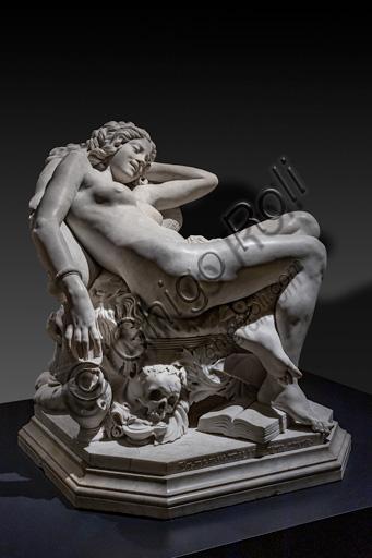"""Torquato Della Torre: """"L'Orgia"""", scultura in marmo, 1851-54."""