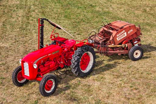 Old Tractor.Make: BucherModel: D - 2000Year: 1962Fuel: Diesel oilNumber of Cylinders: 2Displacement: 2.000 ccHorse Power:  28 HPCharacteristics: MWM engine
